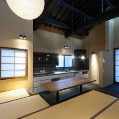 和風/和風住宅/和モダン/和モダン住宅/設計/設計事務所/... 東京都大田区で設計した「提灯」には、大き…