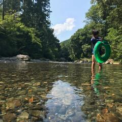 夏休み/川/宮川/三重/旅行/伊勢/... 夏休みに、川へいきました。
