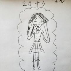 発想力/おもしろい/子どもの絵/NiziU 小学校1年生の娘が描いたNiziUの絵。…