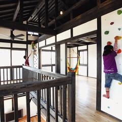 新築/趣味/ロッククライミング/屋根裏/工夫/ロフト/... 家の中にロッククライミングを。こどもたち…