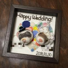記念日/結婚式/Welcomeボード/額/ブローチ/オーダーメイド/... 結婚式のwelcomeボードをオーダーで…