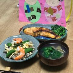 菜の花/アサリ/ちらし寿司/ひな祭り 我が家の今年のひな祭りごはん!ちらし寿司…