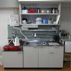 ビンテージマンション/団地キッチン/台所/タイルキッチン/ガスコンロ/ホーロー/... 【ビフォーアフター画像あり】我が家の台所…