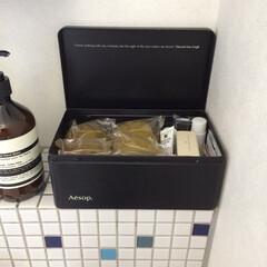 みんなにおすすめ/イソップ/洗面台収納 Aesopのキットが入っていた缶は、洗面…