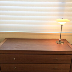 リビング/北欧インテリア/照明/ルイスポールセン 普段は寝室に置いているテーブルランプです…