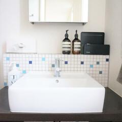 洗面台/インテリア/ジェームスマーティン/イソップ/おうち 洗面台は、家を建てたときに施主支給しまし…