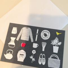 ポストカード/お礼状/暮らし/家時間 以前購入したポストカードを使ってお礼状を…