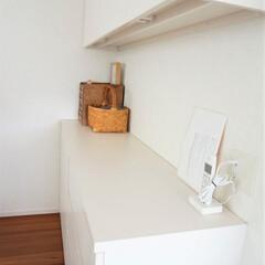 造り付けキャビネット/家具/すっきり暮らす/家造り リビングダイニングで使うものを収納してい…