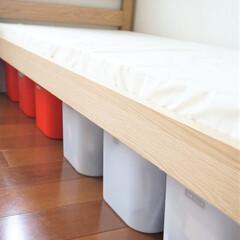 無印良品/二段ベッド/子ども部屋/イケア 無印良品の二段ベッドの下は、イケアの収納…