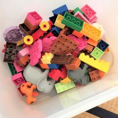 イケア/玩具/玩具収納/収納アイデア 玩具はイケアのボックスに収納しています。…