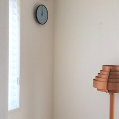 リミアな暮らし/北欧インテリア/北欧家具/寝室 寝室に新しい時計を掛けました。 アルネヤ…