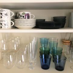 食器/グラス/ティーカップ/北欧食器/イッタラ/アラビア ティーカップ、グラスなどをまとめて収納し…
