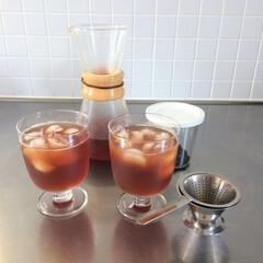 わたしのお気に入り/レンピ/グラス/イッタラ 暑くなってくると飲みたくなるアイスティー…