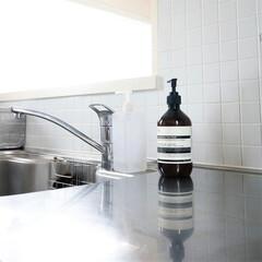みんなにおすすめ/イソップ/ハンドソープ/キッチンインテリア キッチンにハンドソープを置いておくと 調…