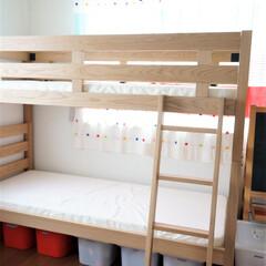無印良品/二段ベッド/子ども部屋/インテリア 子ども部屋には、無印良品の二段ベッドを …