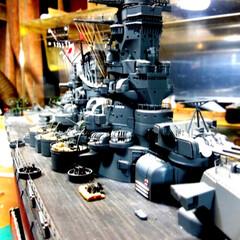 戦艦マニア/プラモデル部/雑貨/わたしのお気に入り 戦艦武蔵💗この鉄塔の部分と色付けが1番大…