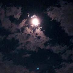 綺麗な空/雨上がり/月 雨の後の月 空が綺麗で反射が妖艶  8月…