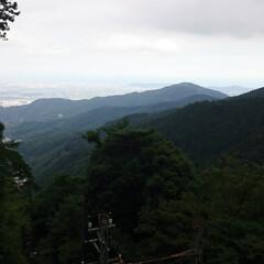 山登り 大山 登り中激しい大雨で道中に下りました…