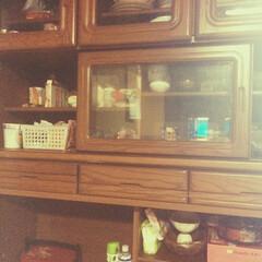 食器棚/収納 豪雨仲間(ウンと年上のマダム)に頂いた食…