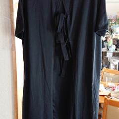 フォロー大歓迎/ワンピース/夏服/おしゃれ アベイルで夏用の服を買いました😊 黒ワン…
