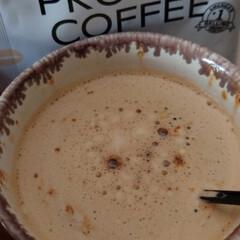 プロテインコーヒー | マッスルテック(その他プロテイン)を使ったクチコミ「プロテインコーヒー飲みました😊 美味しい…」