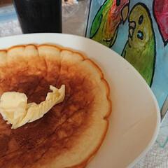ホットケーキ/フォロー大歓迎/GW/おやつタイム/LIMIAスイーツ愛好会/わたしの手作り おやつにホットケーキ作りました😄