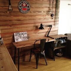 カフェインテリア/男前インテリア/板壁/DIY/リノベーション/セルフリノベーション/... アジャスターボルトとアジャスターベースで…