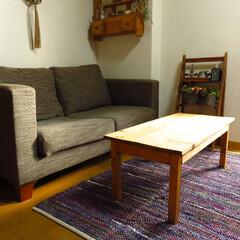 リビング/DIY/家具/コーヒーテーブル/ローテーブル/カフェインテリア/... 思い通りの物がなかったので作ってしまえ~…