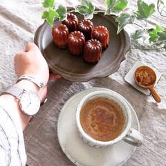 暮らしを楽しむ/コーヒー/おうちカフェ/カフェ風インテリア/カフェ風/カヌレ/... ダニエルのカヌレ プチサイズで何個でも👌…