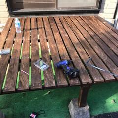 ウッドデッキの作り方/DIY 長年の風雨や今年の台風で、朽ちてしまった…