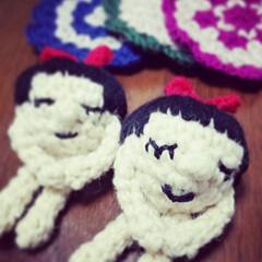 編み物大好き/かぎ針編み/あみぐるみ/おへそちゃん おへそカフェ&Meg... 人気のあみぐるみ🎵  手のひらサイズ、ち…
