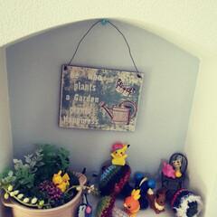 雑貨/ハンドメイド/ここが好き 階段の途中に作り付けである飾り棚✨ ハロ…(1枚目)