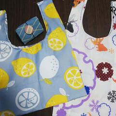 ちょこっとお買い物用/ハンドメイド/手拭い/コンビニサイズ/エコバック/100均/... 今日から買い物袋有料化! 普段エコバック…