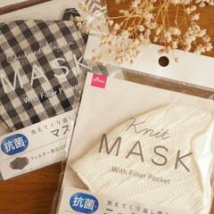 ギンガムチェック/プチプラ/お買い得/ニットマスク/ファッション/マスク/... DAISO戦利品♡  寒くなり始めた頃、…(1枚目)
