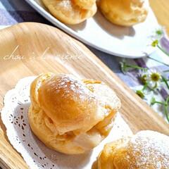 手作りスイーツ/手作りおやつ/シュークリーム/Natural Kitchen/LIMIAFESTA/ダイソー/... 昨日作ったアップルパイに使ったカスタード…