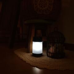 シャッタースピード遅め/照明/玄関ホール/玄関先/ソーラーガーデンライト/ニトリ 我が家は玄関先が真っ暗になるので、ニトリ…