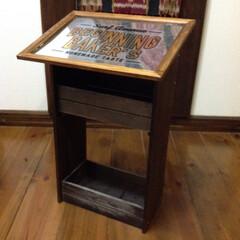 DIY/A4フレーム/木板/木製ボックス/ステッカー 100均素材でミニシェルフ!キッチン雑貨…