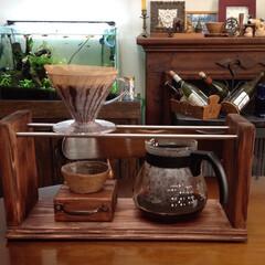 DIY/カフェ風/キッチン/オシャレ コーヒー好きの我が家ではコーヒーメーカー…(1枚目)