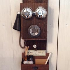 DIY/100均DIY/リメイク/アンティーク風/キーケース 100均素材でアンティーク電話機風キーケ…