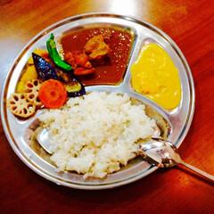 おうちごはん/ごはん/インドカレー 大好きなインドカレー!お店で食べるのも良…