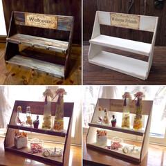 DIY/簡単DIY/棚/シェルフ/100均DIY 木板を斜めにカットするだけでオシャレに見…