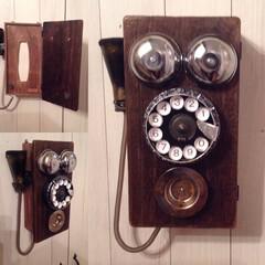 DIY/リメイク/100均DIY/ティッシュケース/お気に入り 100均素材で作ったアンティーク電話風の…