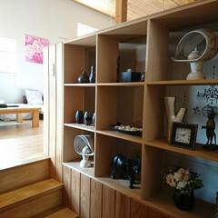 雑貨だいすき/バリ/アフリカ/ニューヨーク/フランス/タイ/... 我が家の玄関にある3×3のディスプレーコ…