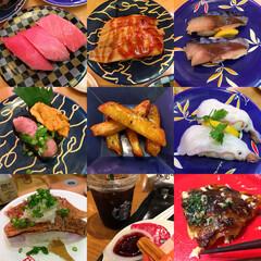 回転寿司屋さん 海鮮三崎港〜スタバ〜お好み焼き(食べかけ…