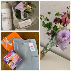 DANTON/母の日ギフト/母の日 母の日 娘からのプレゼント🎁 お花とTシ…