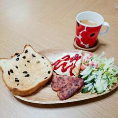 おうちカフェ ネコ食パンを購入したので、カフェっぽくし…