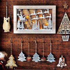 クリスマスオーナメント/有効ボード/ディアウォール棚/リビングルーム/クリスマス2019/リミアの冬暮らし
