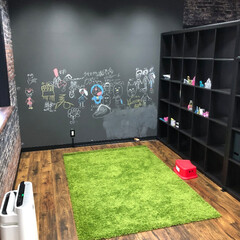サンゲツ/黒板クロス 新事務所完成  こちらは サンゲツの黒板…