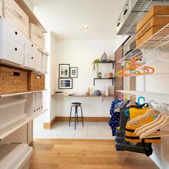 玄関収納/収納/整理整頓/マイホーム/注文住宅/新築/... 『便利な玄関収納』  玄関とリビングから…
