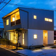 一戸建て/家/注文住宅/戸建て/新築/家作り/... 『シャープな個性的なお家』  太陽光発電…
